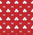 christmas elemenys seamless pattern vector image