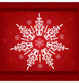 christmas snow ornament vector image vector image