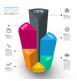 colorful isometric cylinders infographics vector image