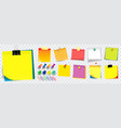 colorful sticky note using in school work or vector image vector image