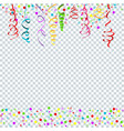 confetti serpentine transparent vector image