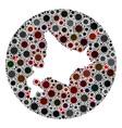 coronavirus hole circle hokkaido map mosaic vector image vector image
