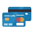 Credit card icon flat design Bankcard isolated vector image vector image