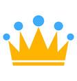 crown flat icon symbol vector image