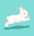 cute easter bunny vector image vector image
