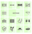 defense icons vector image vector image