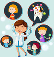 Dentist and eating habit of children vector image vector image