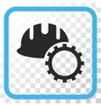 Development Hardhat Icon In a Frame vector image vector image