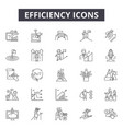 efficiency line icons for web and mobile design vector image vector image