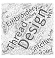 embroidery design Word Cloud Concept vector image vector image