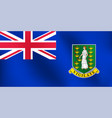 flag of british virgin island vector image