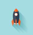 Flat rocket icon vector image