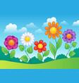 flower theme image 9 vector image