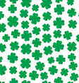 Four leaf clover seamless pattern vector image