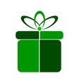 Gift symbol icon on white vector image vector image