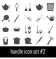 handle icon set 2 gray icons on white background vector image vector image