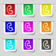 handset icon sign Set of multicolored modern vector image