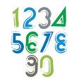 Handwritten numbers isolated on white background vector image vector image