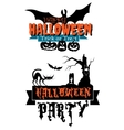 Happy Halloween party banners vector image