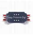 Happy Presidents Day big realistic Banner Template vector image vector image