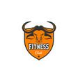 head bull buffalo fitness crossfit gym vector image