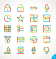 highlighter line icons set 1 vector image vector image