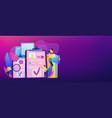hiring employee concept banner header vector image