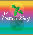 kansas day sign and vector image vector image