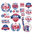label made in the usa vector image vector image