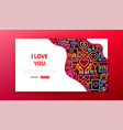 love neon landing page vector image vector image