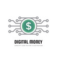 mobile speed payment digital money dollar vector image vector image