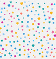 modern abstract confetti background seamless vector image vector image