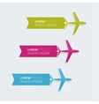 Multicolored paper stickers with aircraft vector image vector image