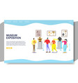 museum exposition website landing page vector image