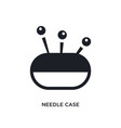 needle case isolated icon simple element from vector image vector image