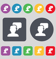 People talking icon sign A set of 12 colored vector image