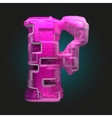 pink plastic figure f vector image vector image