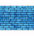 Plygon brick blue vector image vector image
