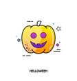 pumpkins icon halloween sticker vector image vector image