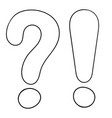 question and exlamation marks outline icon vector image