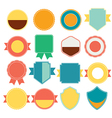 Set of color retro vintage badges and labels vector image