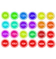 set of colorful business sale offer tags stock vector image vector image