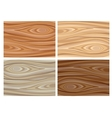 Set of wooden textures vector image vector image