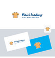 shirt logotype with business card template vector image