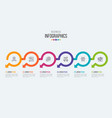six steps timeline infographic template with vector image