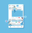 social media people on posts vector image vector image