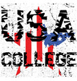 sport college athletic typography t-shirt graphics vector image vector image