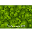 St Patricks Day green background vector image vector image