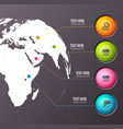 teamwork infographic concept background vector image vector image