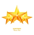 Three Achievement Stars Yellow Sign vector image vector image